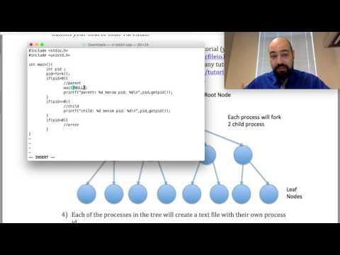 fork() fonksiyonu ve İşlem (Process) üretilmesi (işletim sistemleri 11. video)
