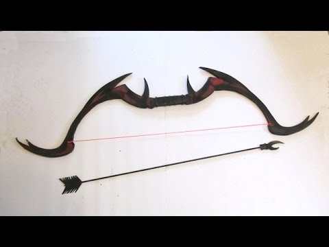 Make a Daedric Bow and Arrow from Skyrim