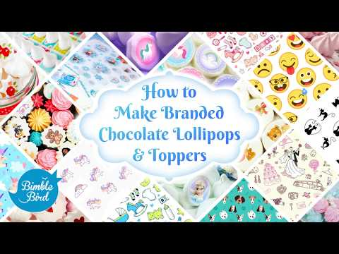 How to EASILY make Chocolates With Transfer Sheets ❤️ Using Lollipops mold