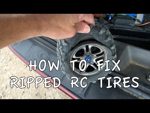 How to Fix Ripped/Torn RC Car Tires