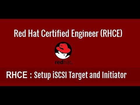 How to configure iscsi target server in centos 7, redhat 7