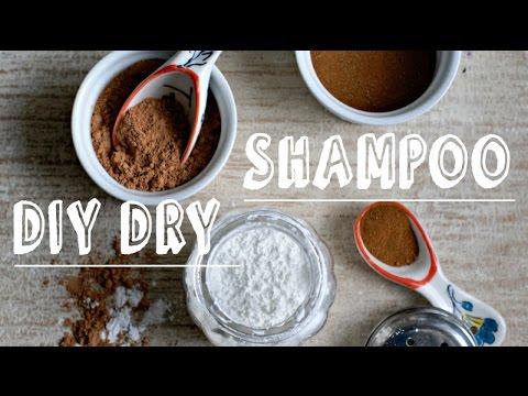 DIY Dry Shampoo Powder for Volume and Clean Hair. Light-Dark-Red Hair.