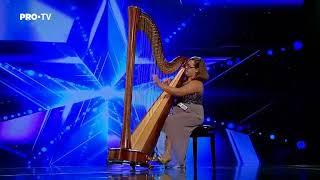 Romanii au talent 2018 - Tatiana Podoleac - canta la harpa