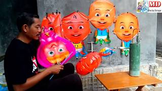 MEMBUAT BALON BISA TERBANG SENDIRI, BALON KARAKTER UPIN & IPIN - BABY SHARK DANCE SONG