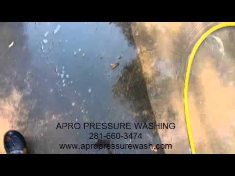 Pressure Washing Driveway and Pea Gravel