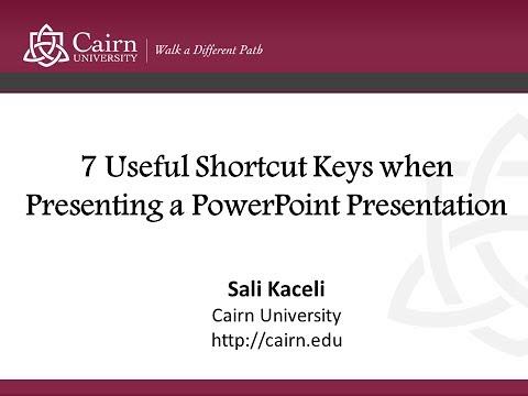 7 Useful Shortcut Keys When Presenting a PowerPoint Presentation