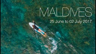 Surfing in MALDIVES... some big waves and a unicorn!
