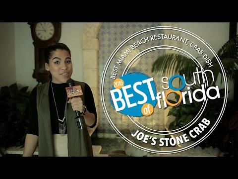 Best Miami Beach restaurant and Best Crab dish: Joe's Stone Crab - Best of 2016