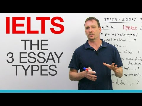 IELTS Writing: The 3 Essay Types