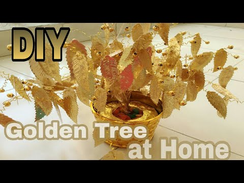 How to make tree wire easy steps /golden tree/sculpture