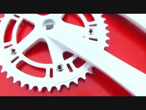 2015 Rumpus Fixie Bike Tracket Crankset White Full Alloy 46T fixiesupermarket.com