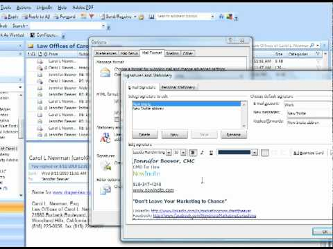 How to Set up a Custom Email Signature in Outlook