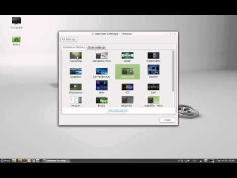 How To Change Theme in Linux Mint 13 Cinnamon
