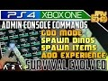 ARK XBOX ONE & PS4 - ADMIN CONSOLE COMMANDS EXPLAINED ...