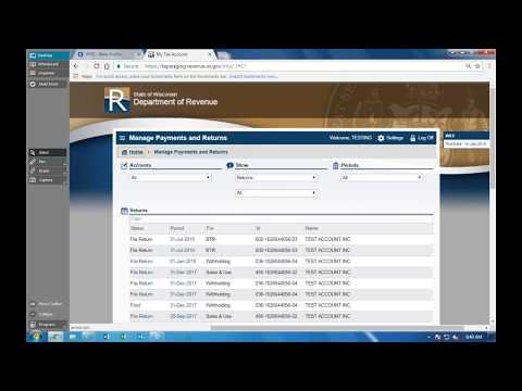 My Tax Account Annual Refresher January 16, 2018