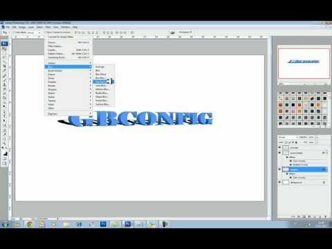 Criando texto 3D no Photoshop CS3