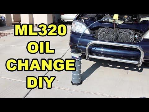Mercedes-Benz ML320 Oil Change (W163)