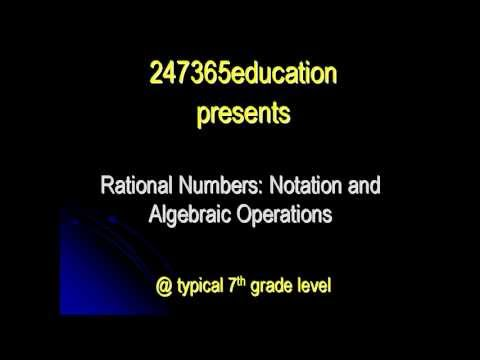 Rational numbers in decimal form