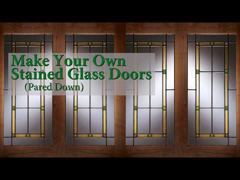 Make Your Own Stained Glass Doors (Pared Down)
