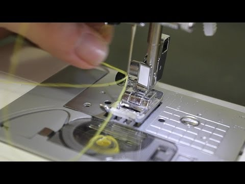 How to thread a Brother self-threading sewing machine