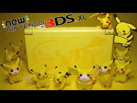 Unboxing PIKACHU YELLOW EDITION *new* NINTENDO 3DS XL 2017 Pokemon System