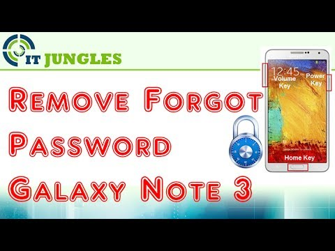 Samsung Galaxy Note 3: Remove Forgot Password