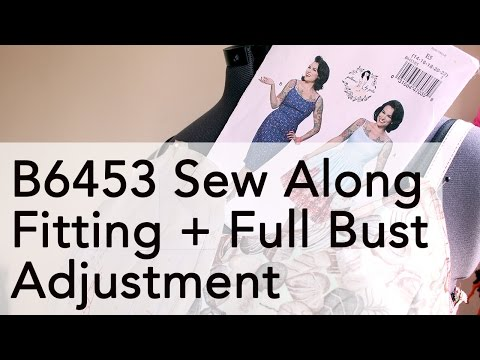 Gertie B6453 Sew Along: Full Bust Adjustment + Fitting   Vintage on Tap