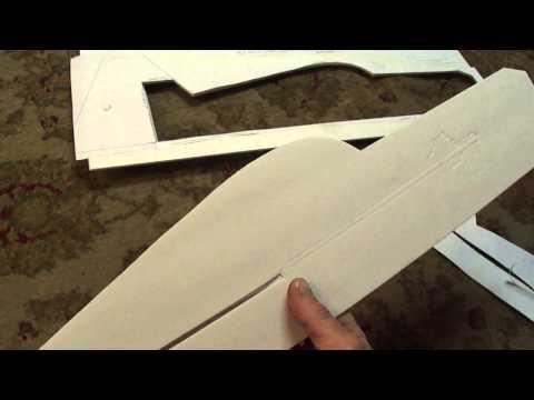 Part # 1 of 3 Profile 3D plane. Cutting and assembling (PDF) plans. foamconceptjets.com
