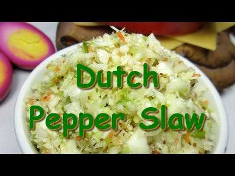 Country Dutch Cabbage Pepper Slaw ~ Cabbage ColeSlaw Salad Recipe