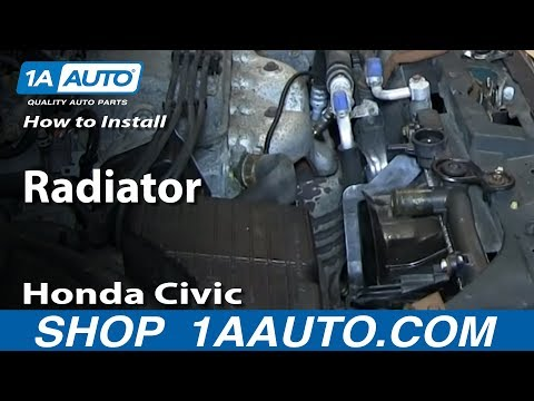 How To Install Remove Replace Radiator 1992-00 Honda Civic