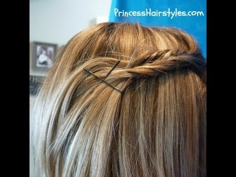 Fishtail Braid Pin Back Hairstyle, Taught By The Princess