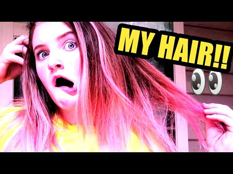 MY UNICORN HAIR IS PINK?🔥(DIY)COLORED by 10 YEAR OLD 😱[LOREAL 2018]