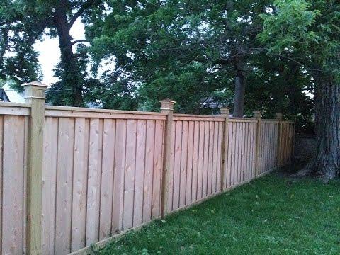 Cedar Fence Build 1