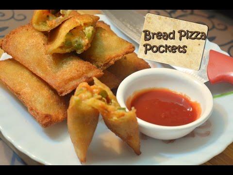 Bread Pizza Pockets | ब्रेड पिज़्ज़ा पॉकेट्स | Crispy Pizza pockets |Snack Recipe | Breakfast recipe