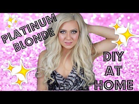DIY: PLATINUM BLONDE- DARK TO BLONDE AT HOME (KIM KARDASHIAN HAIR!)