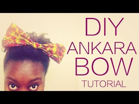 DIY NO-SEW ANKARA FABRIC BOW
