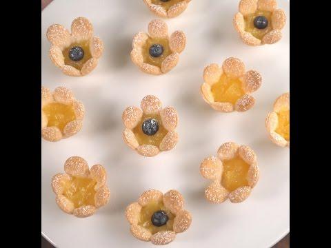 Lemon Curd Flower Tarts