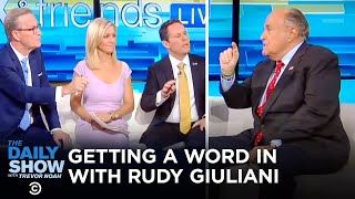 Getting a Word In with Rudy Giuliani | The Daily Show