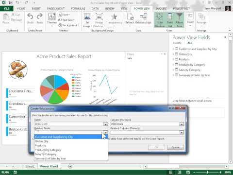 Excel 2013 Create a Relationship Between Two Tables