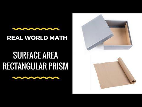 Real Life Math ( Surface Area Rectagular Prism )