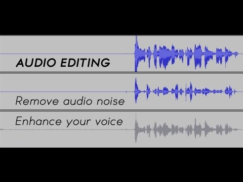 Enhancing voice and removing noise in Audacity
