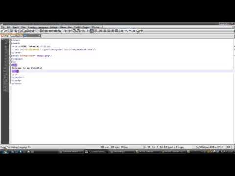 HTML - Episode 4 - Adding a Background Image