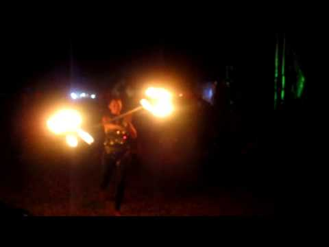 Amazing Fire Spinners at Cosmic Convergence Festival
