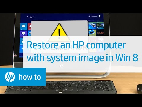 Using a System Image to Restore an HP Computer in Windows 8