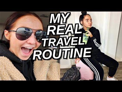 TRAVEL ROUTINE! Pack with Me, Skincare, Saving Money | Kenzie Elizabeth Vlogmas