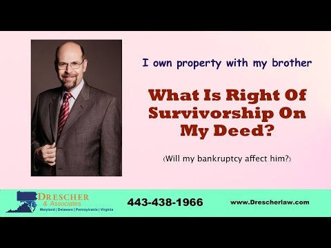 What Is Right Of Survivorship On My Deed?