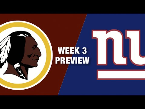 Redskins vs. Giants Preview (Week 3) | Thursday Night Football