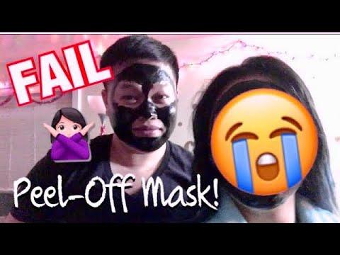 Purifying Peel-Off Black Mask Review ft PANDA aka itsGenji   awkwardflowers_