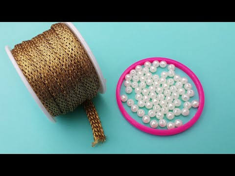 How To Make Beautiful Pearl Necklace At Home | DIY | jewelry | Silk Thread Necklace | uppunutihome