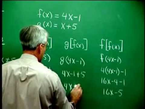 Operations on Functions & Composition of Functions